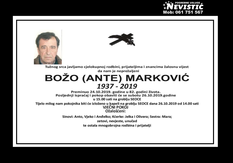Božo (Ante) Marković