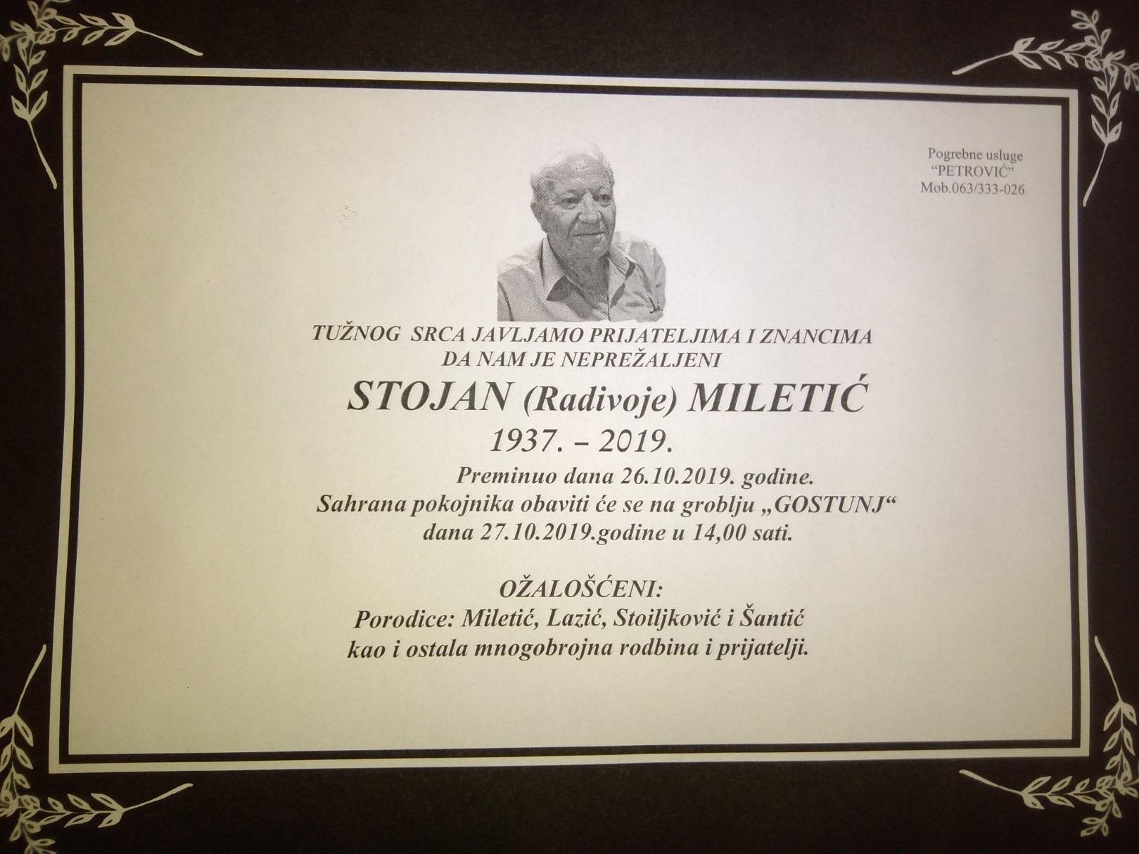 Stojan (Radivoje) Miletić