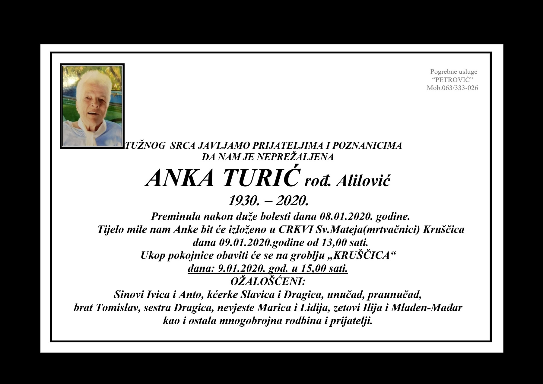 Anka Turić, rođ. Alilović