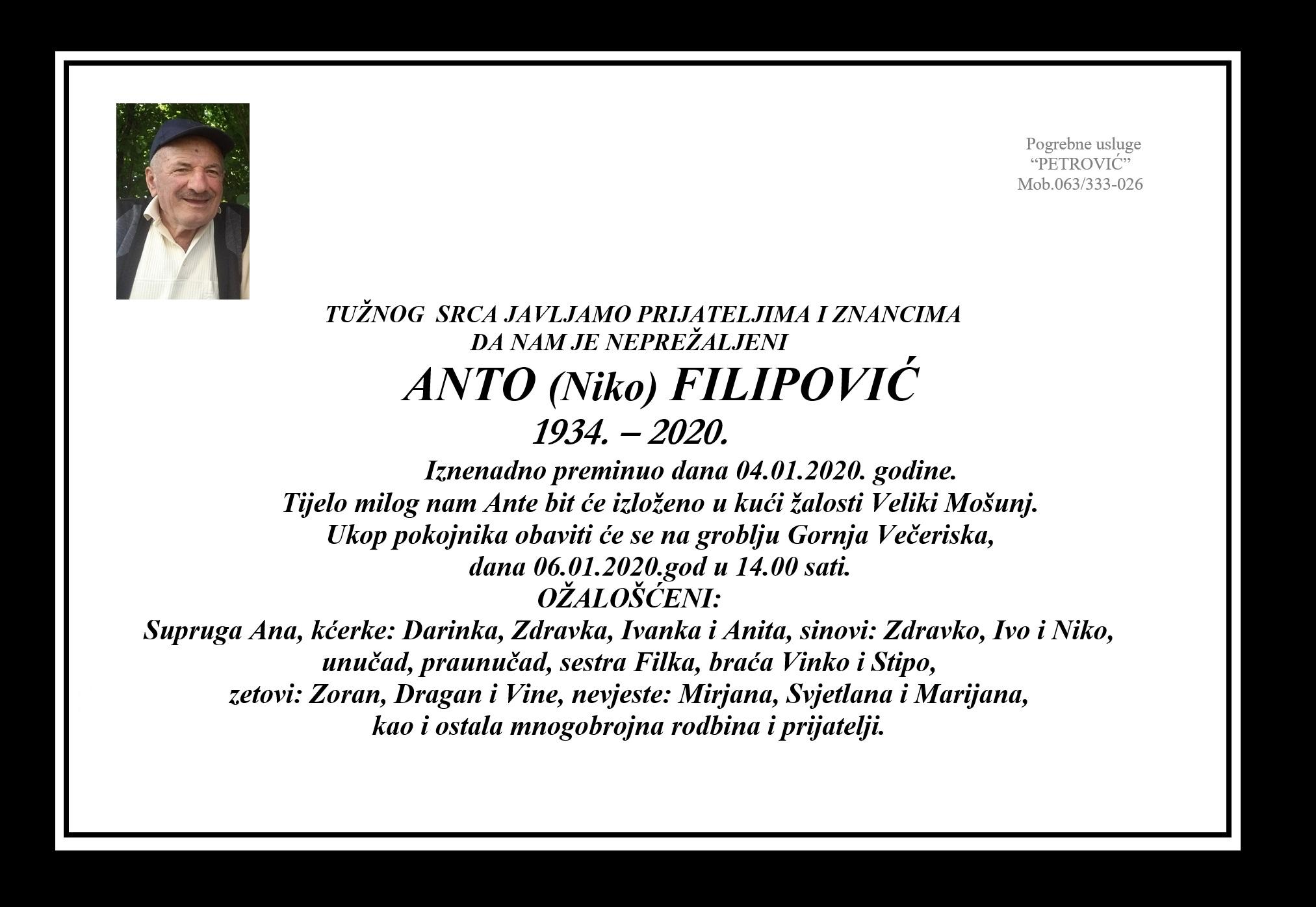 Anto (Niko) Filipović