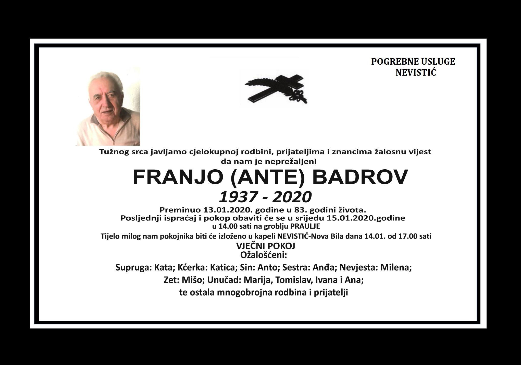 Franjo (Ante) Badrov