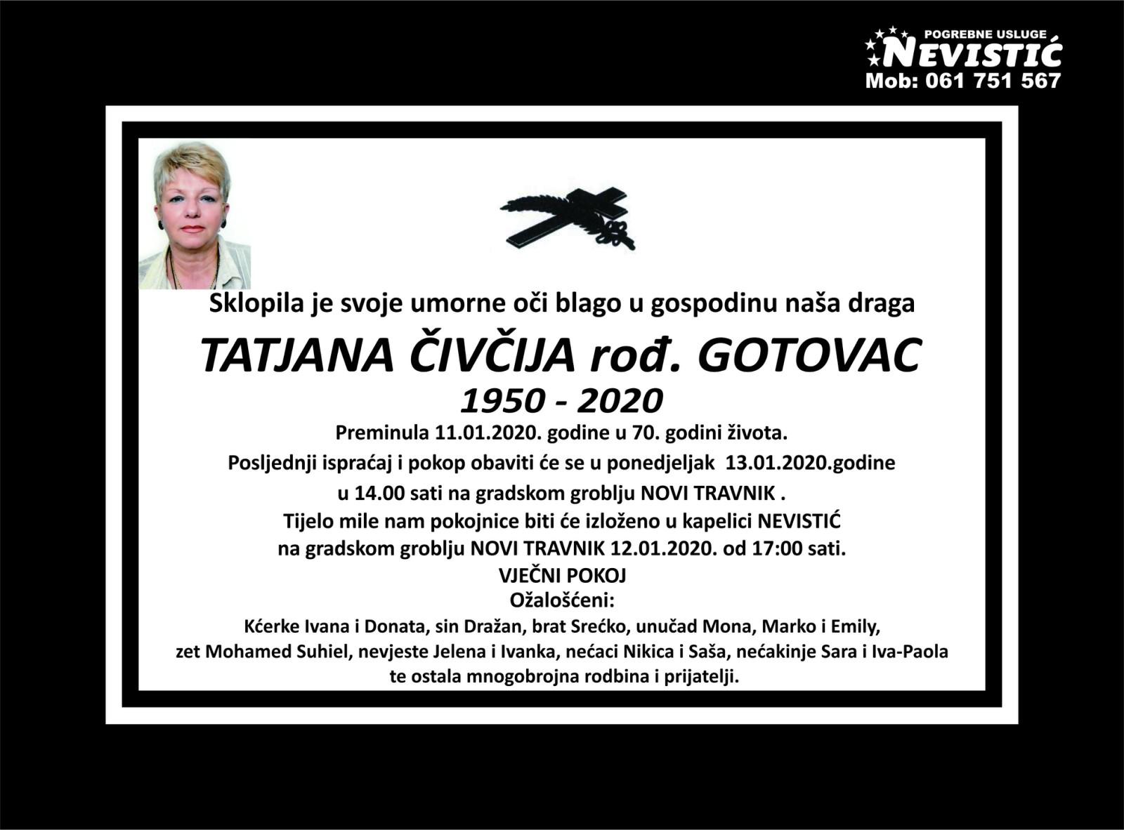 Tatjana Čivčija, rođ. Gotovac