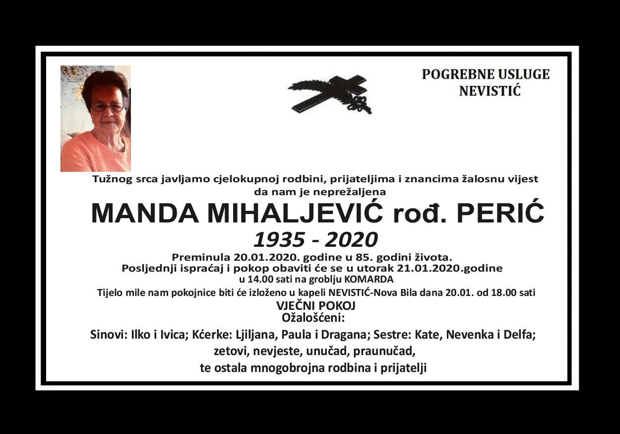 Manda Mihaljević, rođ. Perić