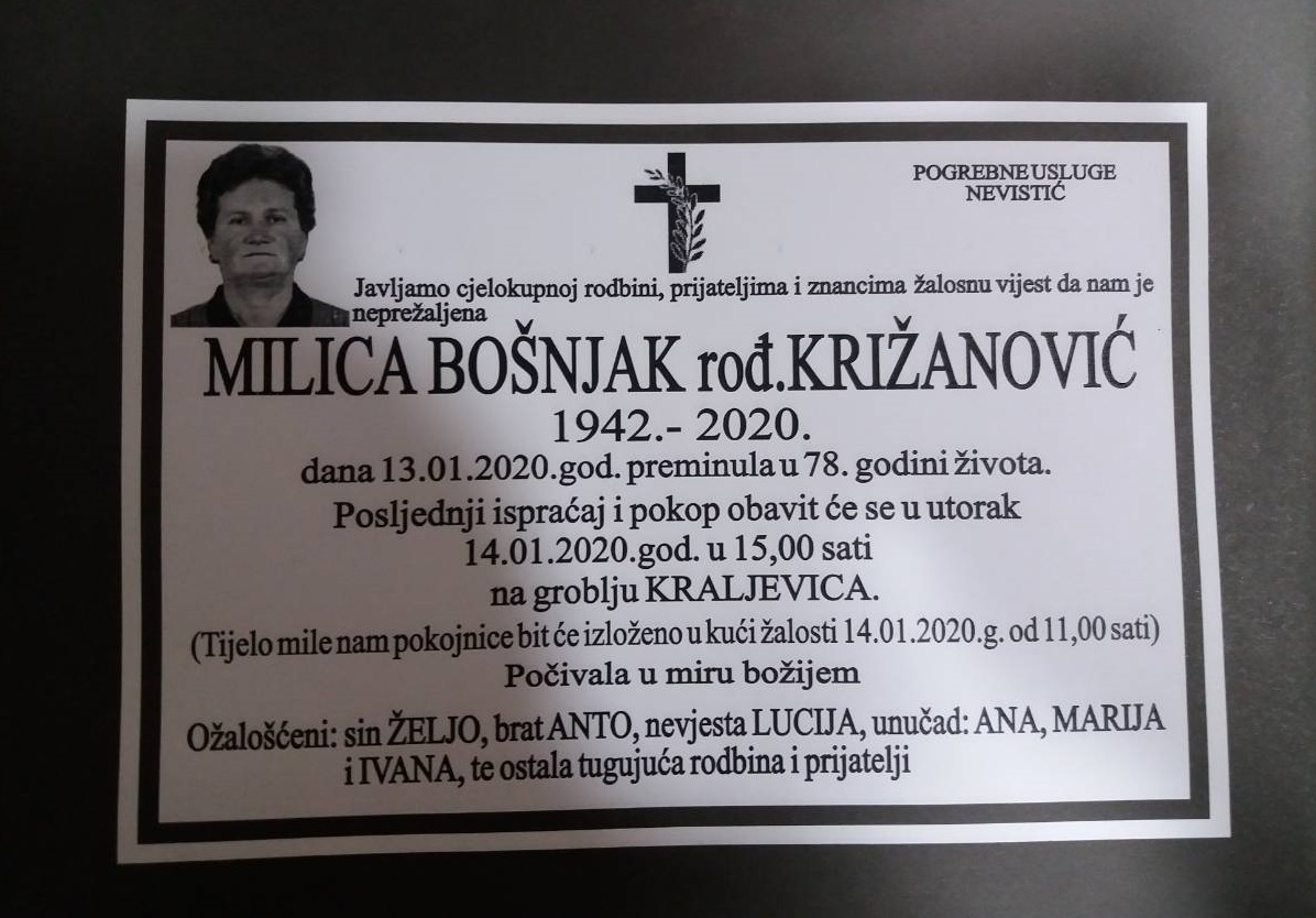 Milica Bošnjak, rođ. Križanović