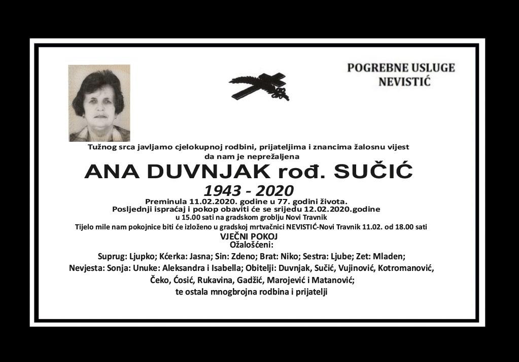 Ana Duvnjak, rođ. Sučić
