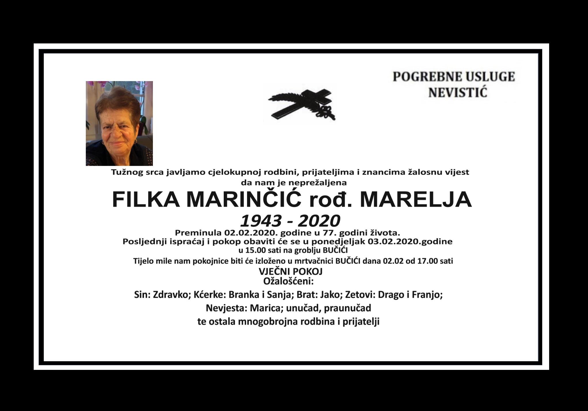 Filka Marinčić, rođ. Marelja