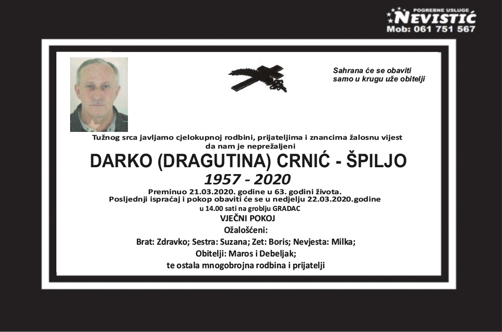 Darko (Dragutina) Crnić – Špiljo