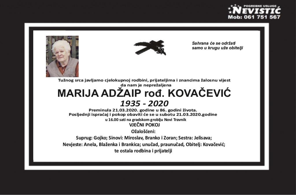 Marija Adžaip, rođ. Kovačević