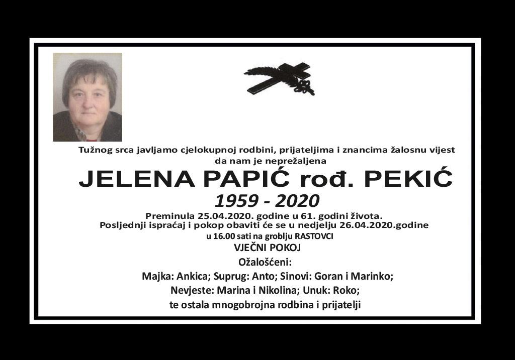 Jelena Papić rođ. Pekić