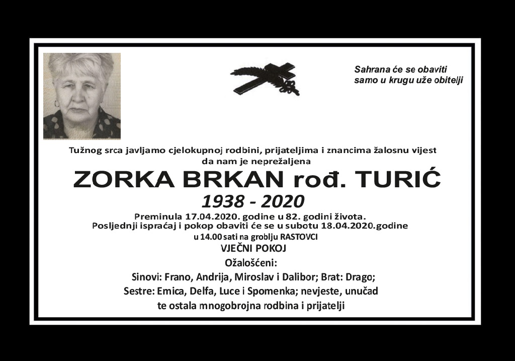 Zorka Brkan rođ. Turić