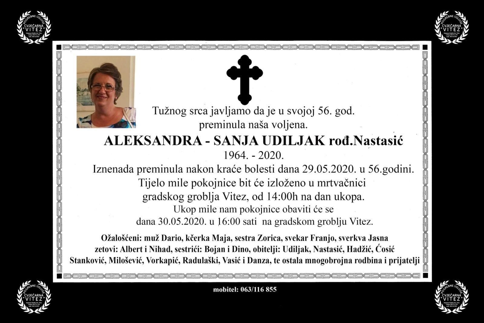 Aleksandra – Sanja Udiljak rođ. Nastasić