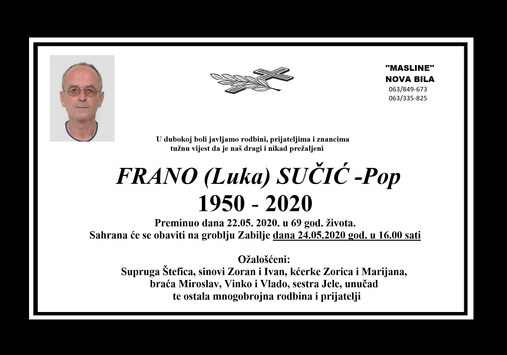 Frano (Luka) Sučić – Pop