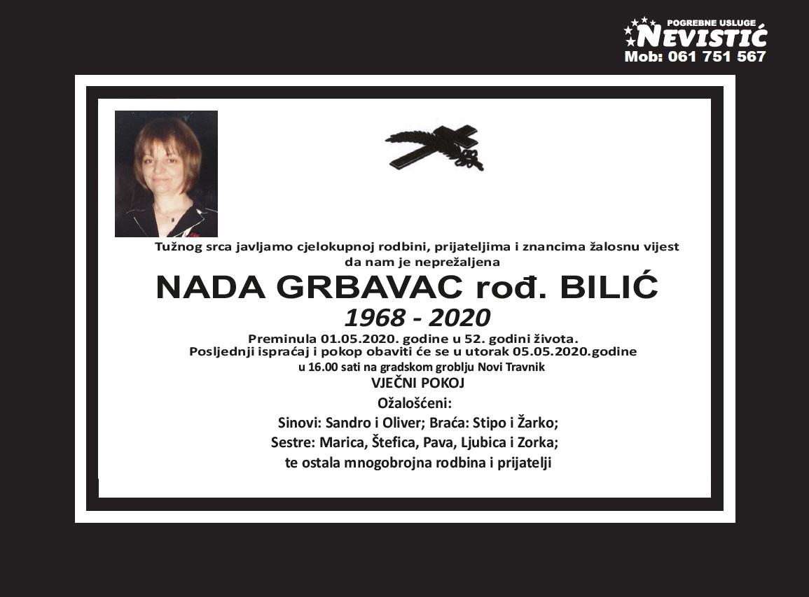 Nada Grbavac rođ. Bilić