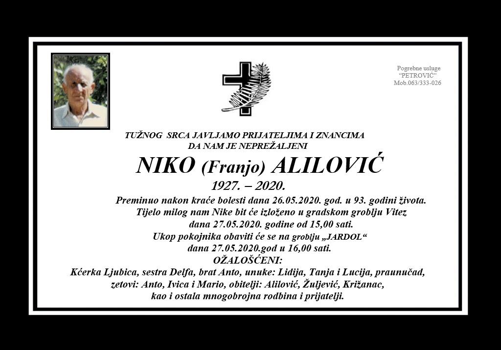 Niko (Franjo) Alilović