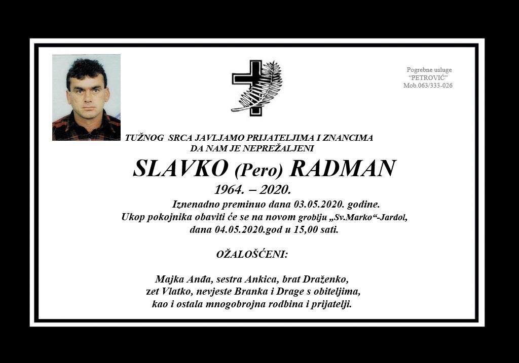 Slavko (Pero) Radman