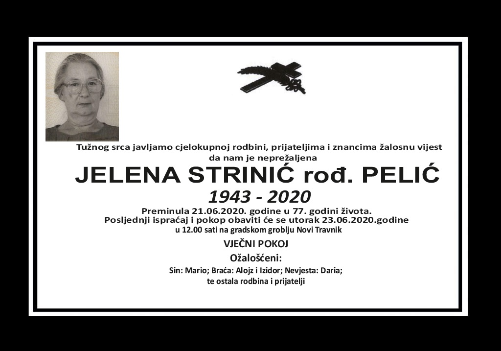 Jelena Strinić rođ. Pelić