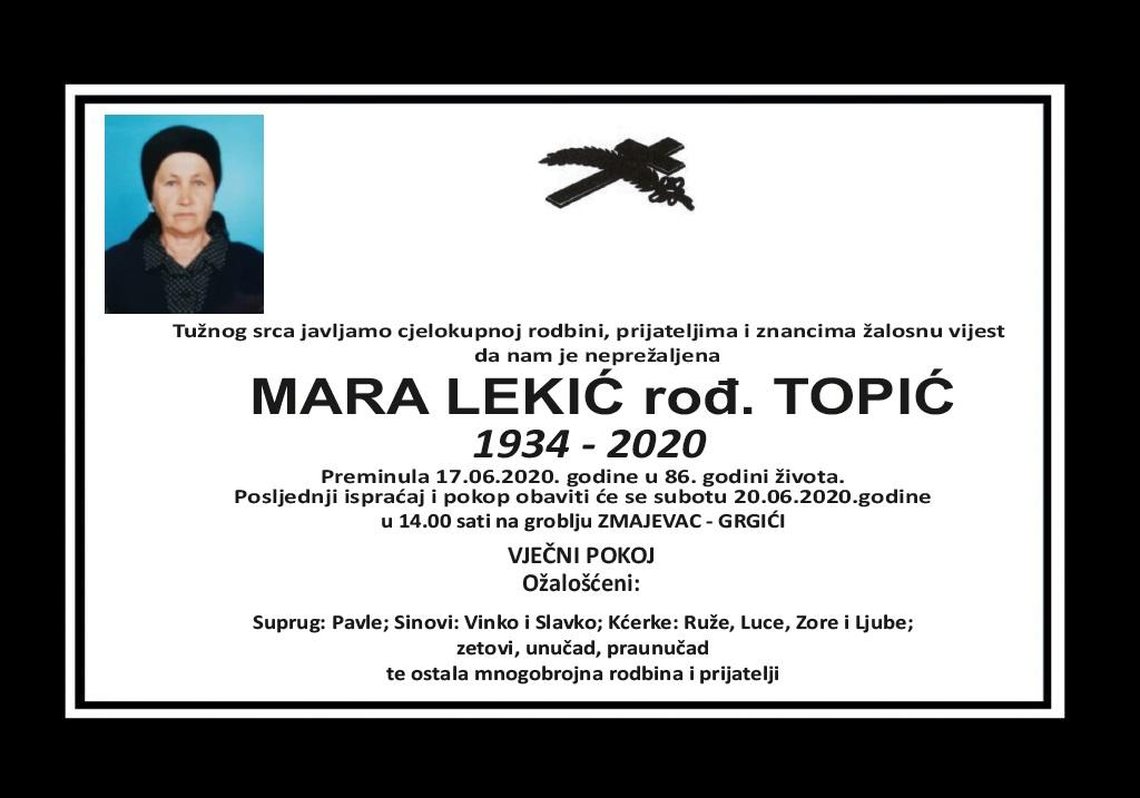 Mara Lekić rođ. Topić