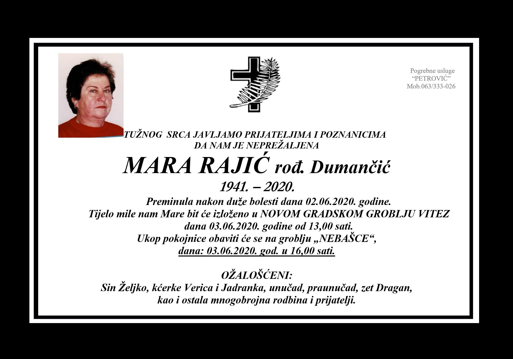 Mara Rajić rođ. Dumančić