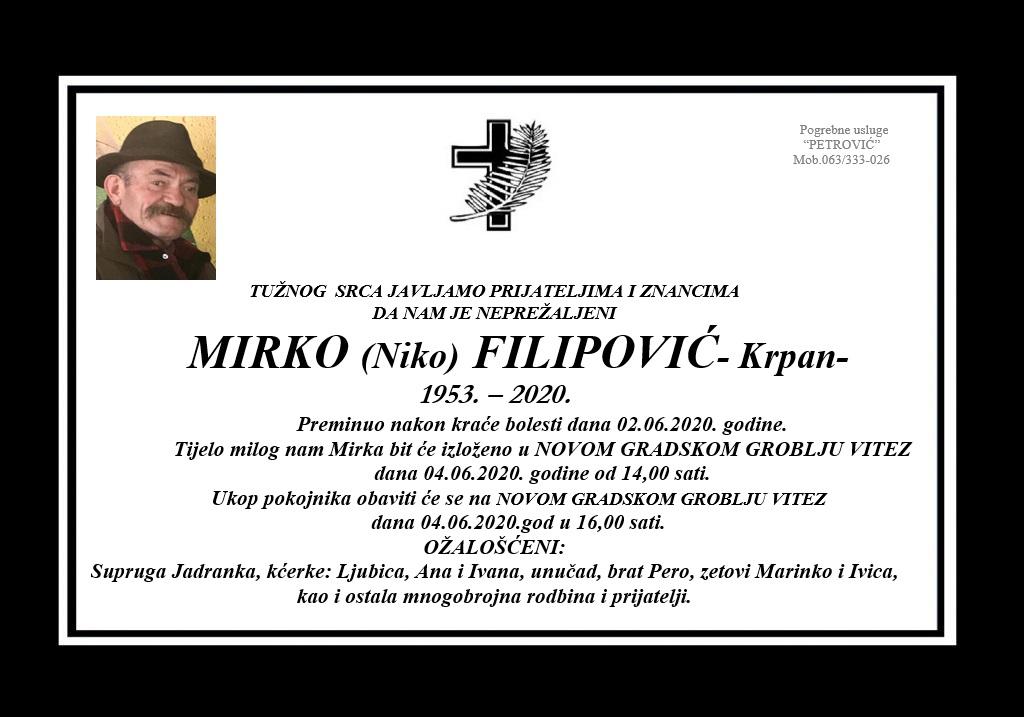 Mirko (Niko) Filipović – Krpan