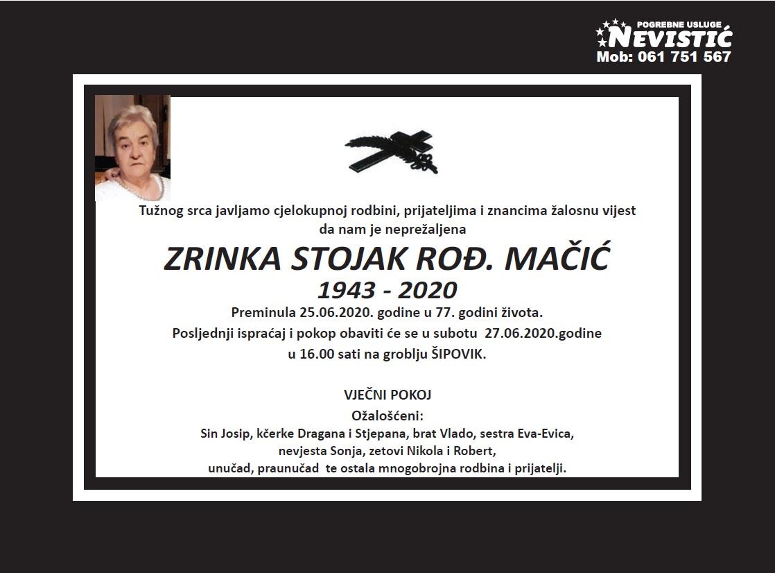 Zrinka Stojak rođ. Mačić