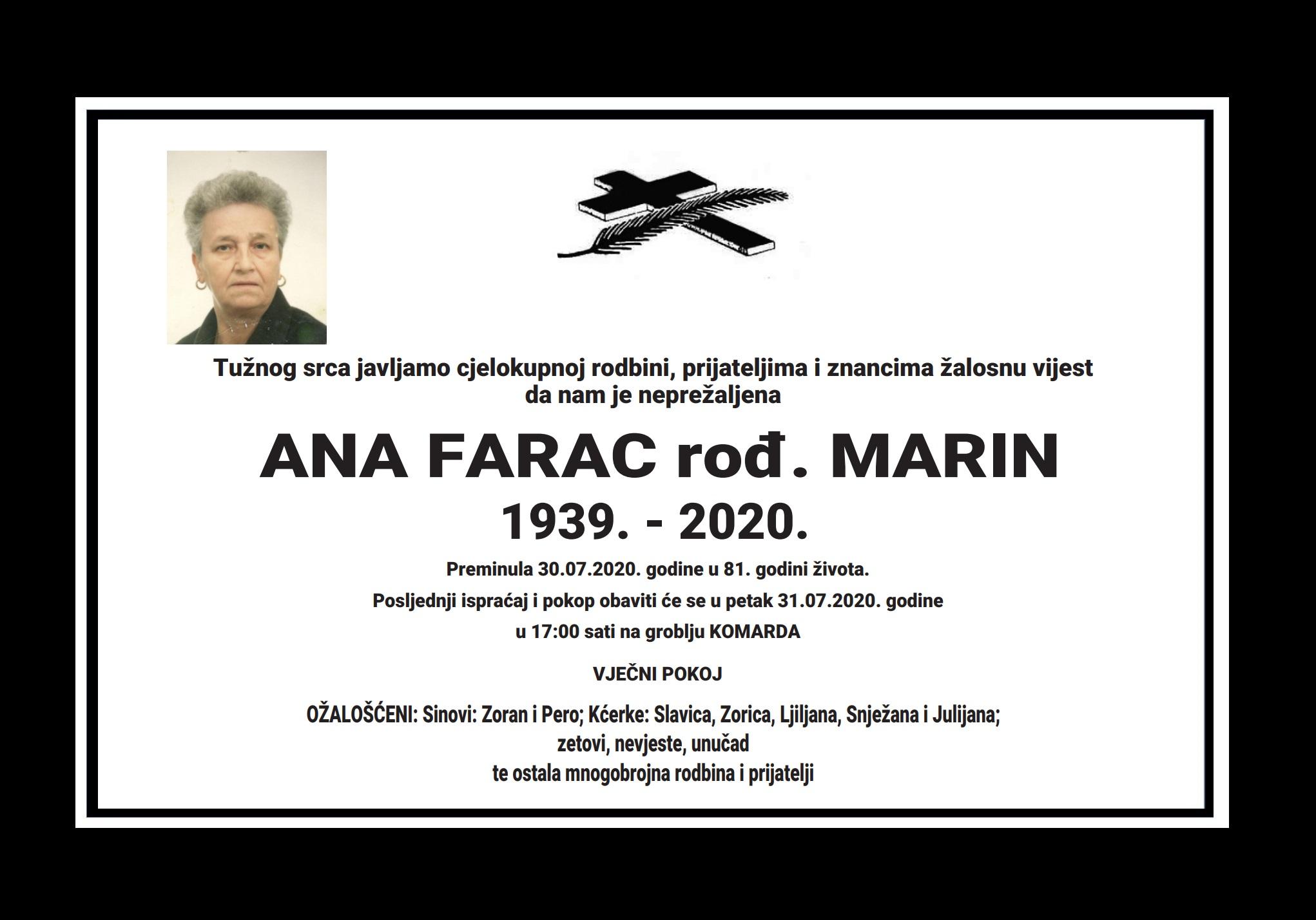 Ana Farac rođ. Marin