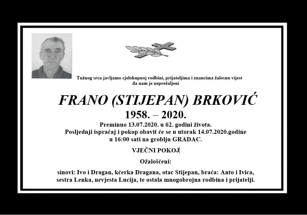 Frano (Stijepan) Brković