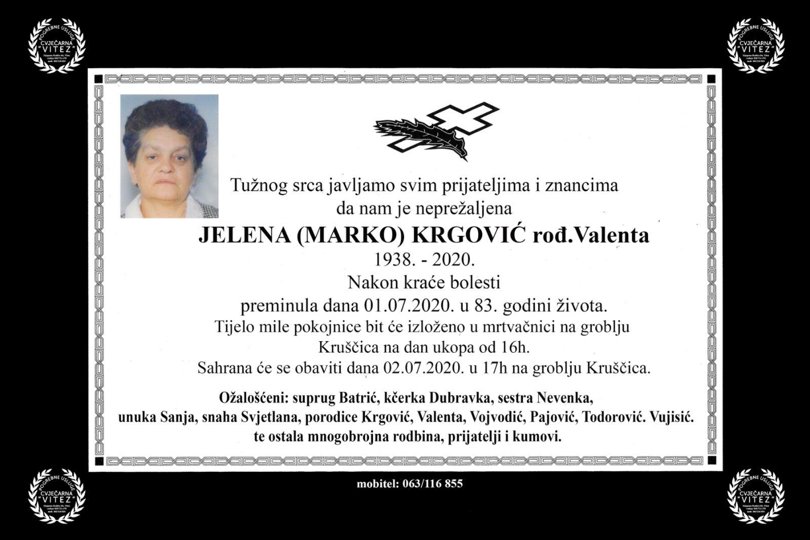 Jelena (Marko) Krgović rođ. Valenta
