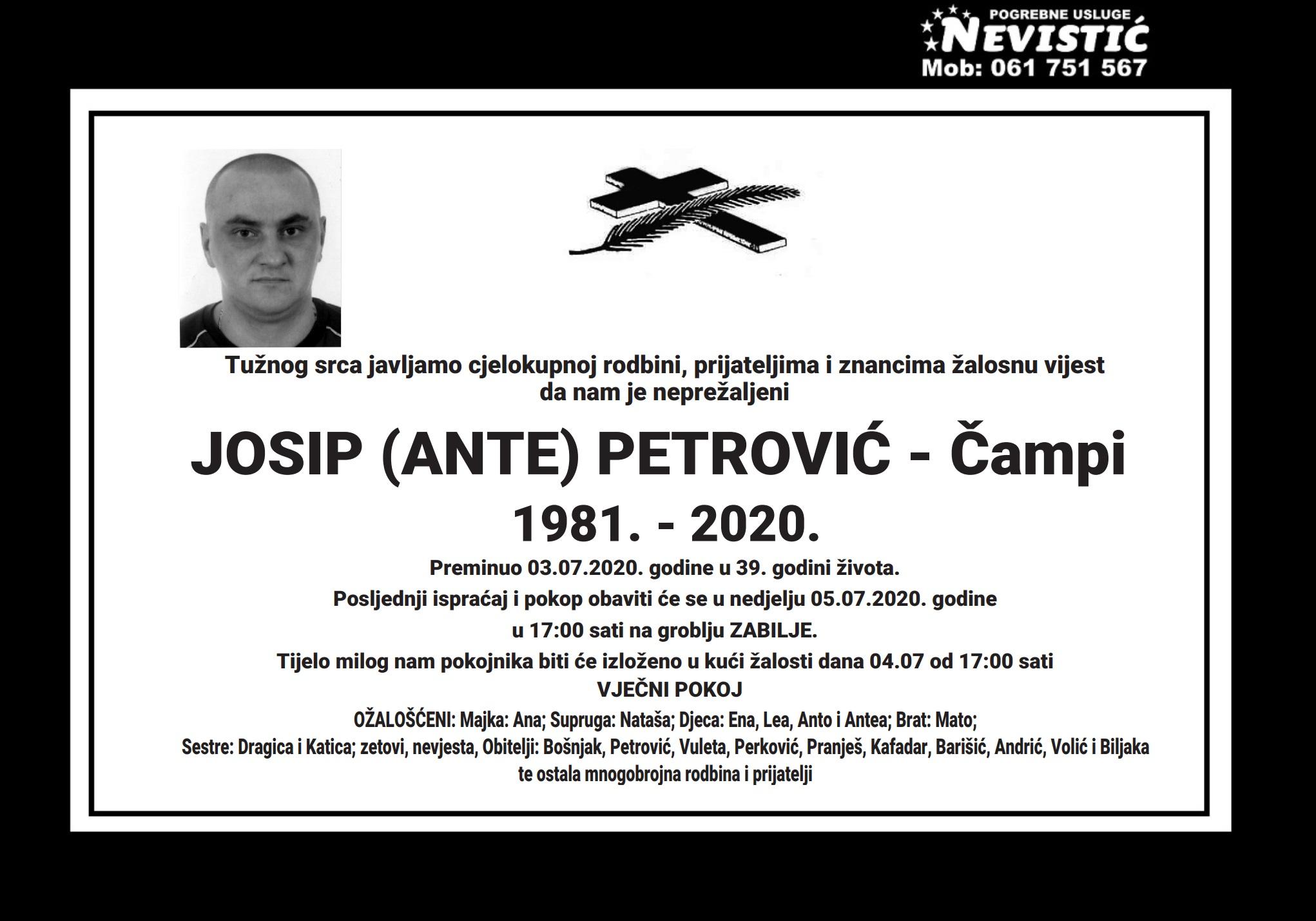 Josip (Ante) Petrović – Čampi