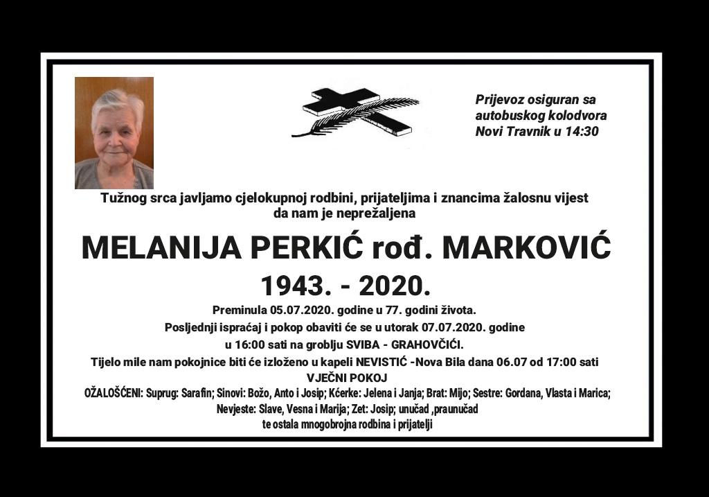 Melanija Perkić rođ. Marković