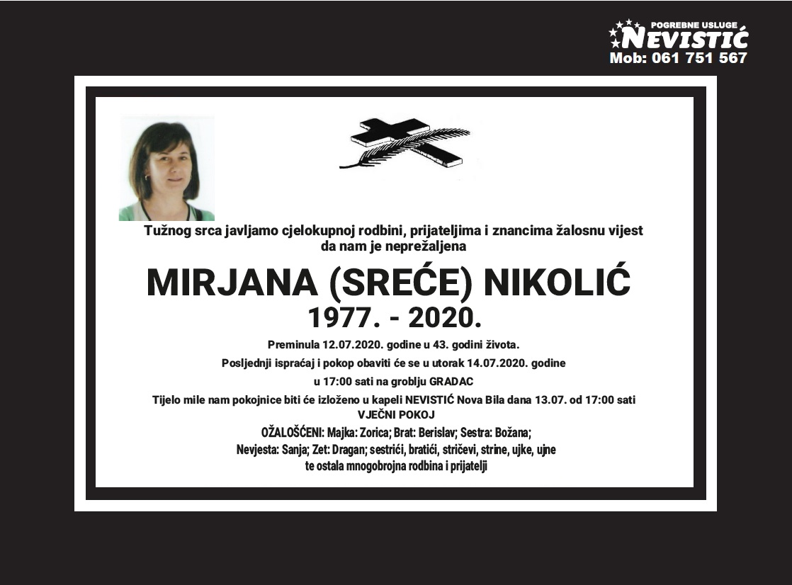 Mirjana (Sreće) Nikolić