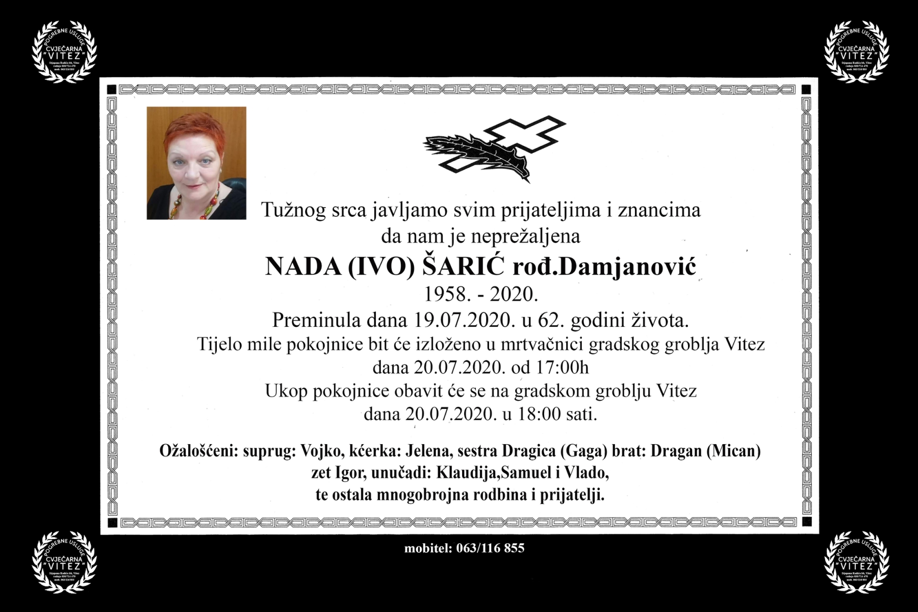 Nada (Ivo) Šarić rođ. Damjanović