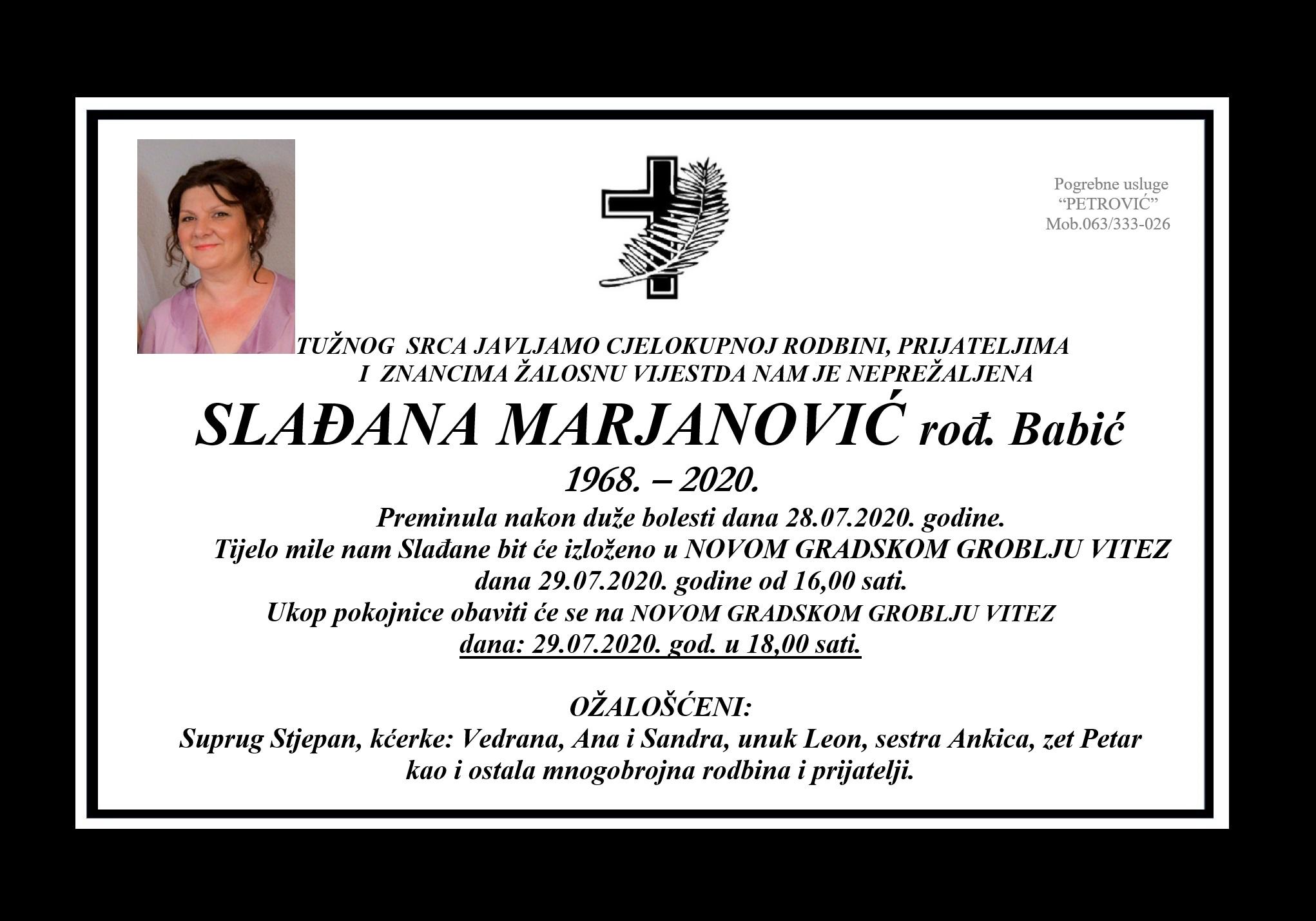 Slađana Marjanović rođ. Babić