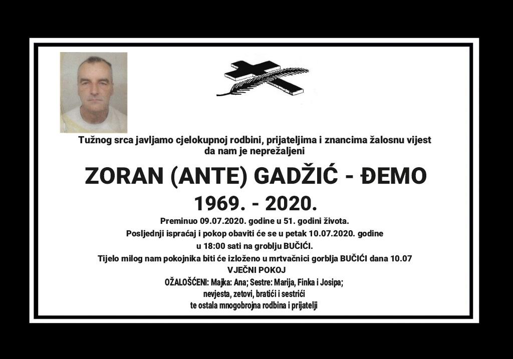Zoran (Ante) Gadžić – Đemo