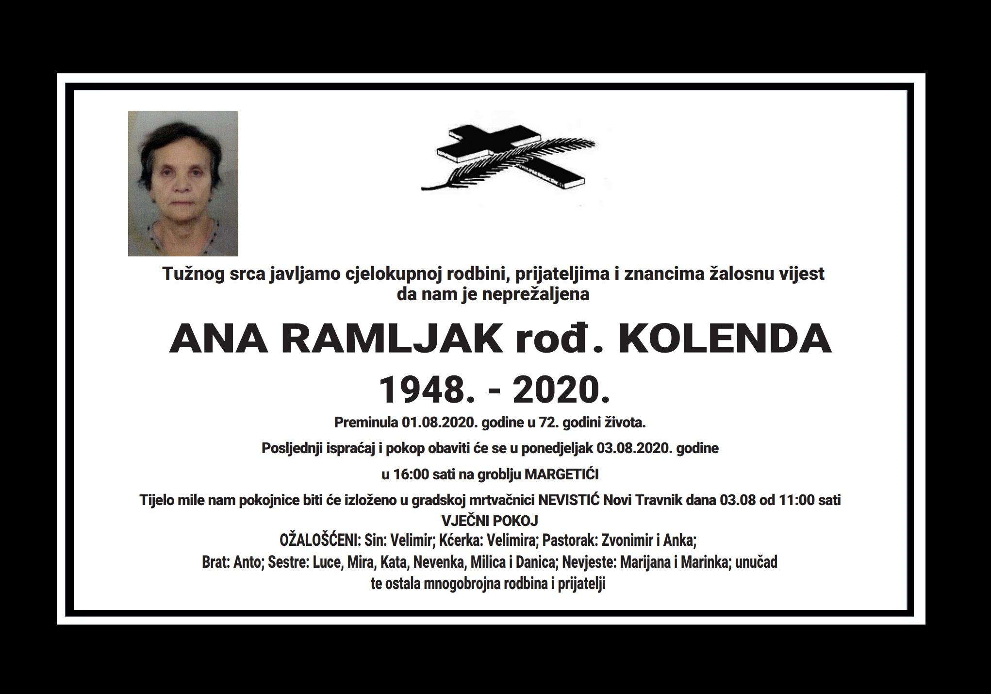 Ana Ramljak rođ. Kolenda