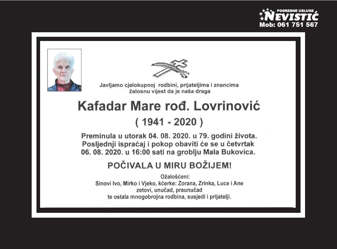 Kafadar Mare rođ. Lovrinović