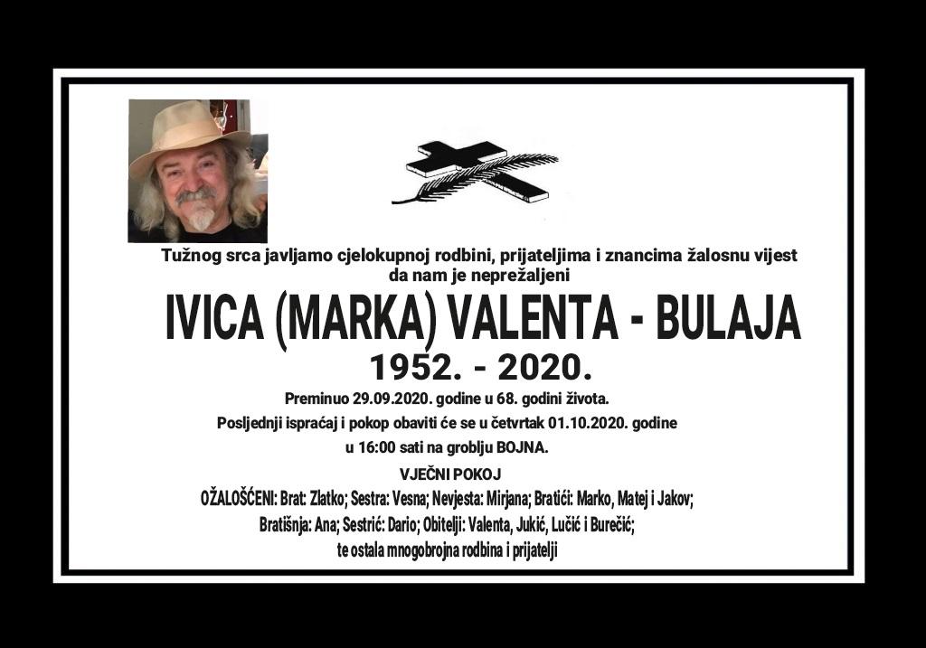 Ivica (Marka) Valenta – Bulaja