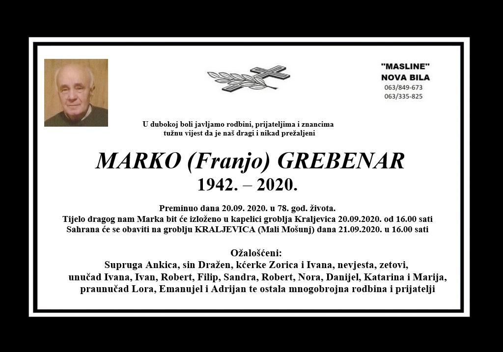Marko (Franjo) Grebenar