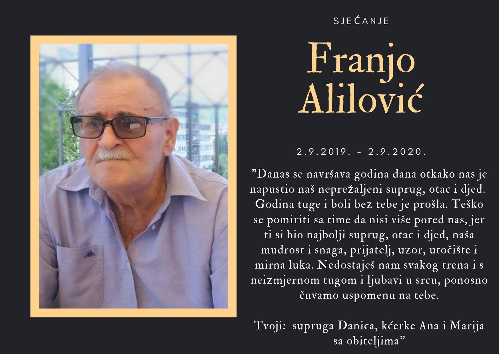 Sjećanje: Franjo Alilović