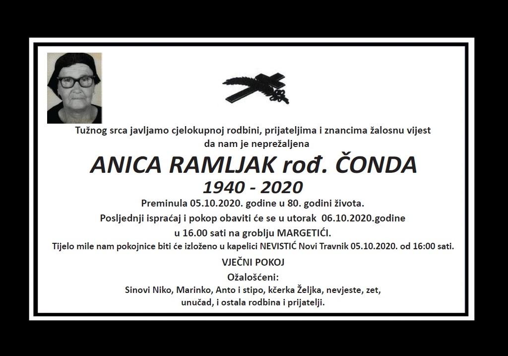 Anica Ramljak rođ. Čonda