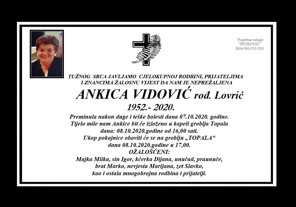 Ankica Vidović rođ. Lovrić