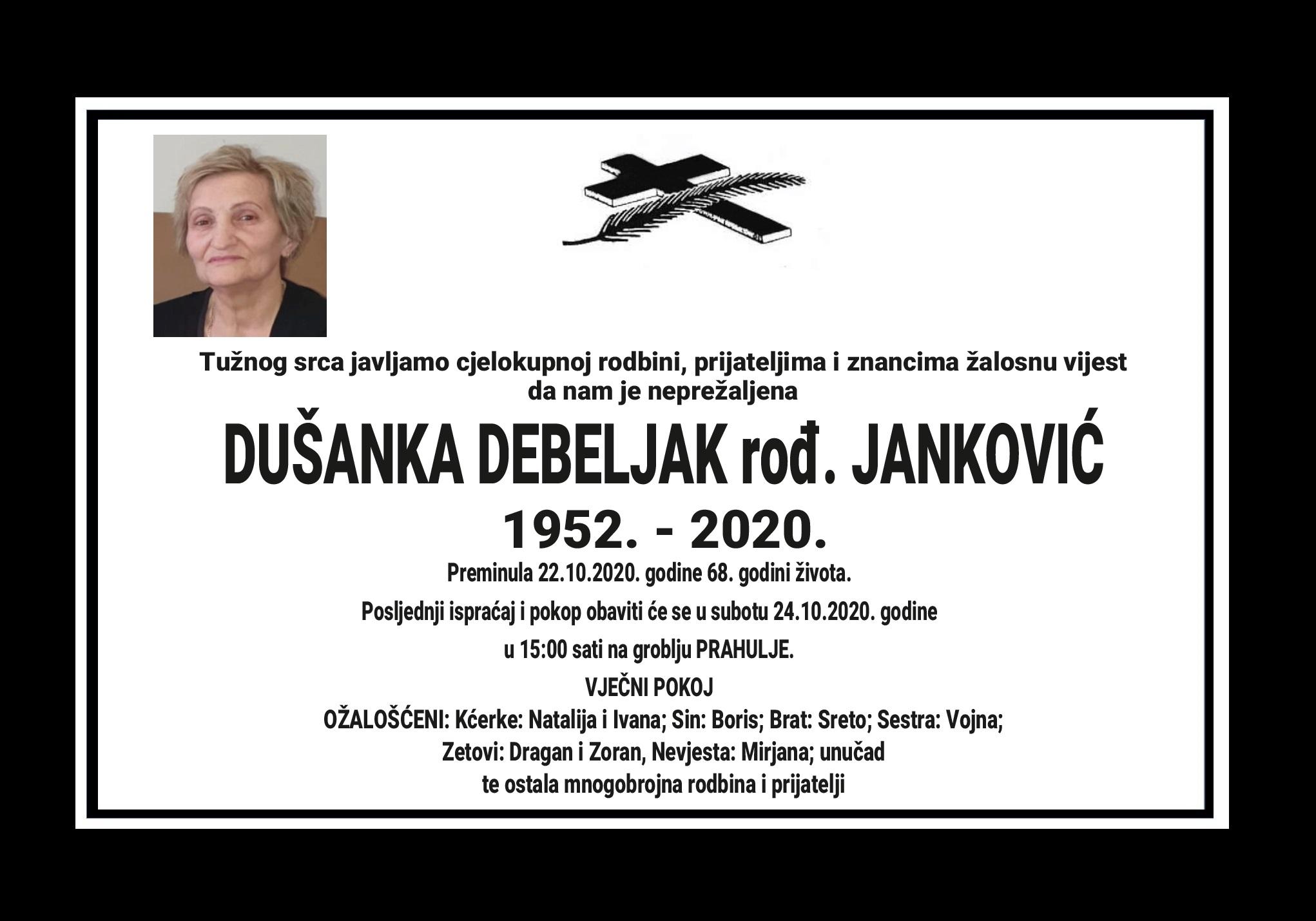 Dušanka Debeljak rođ. Janković