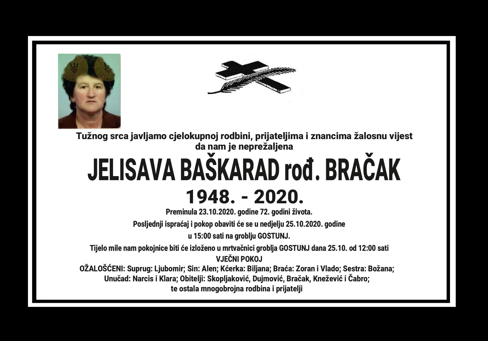 Jelisava Baškarad rođ. Bračak