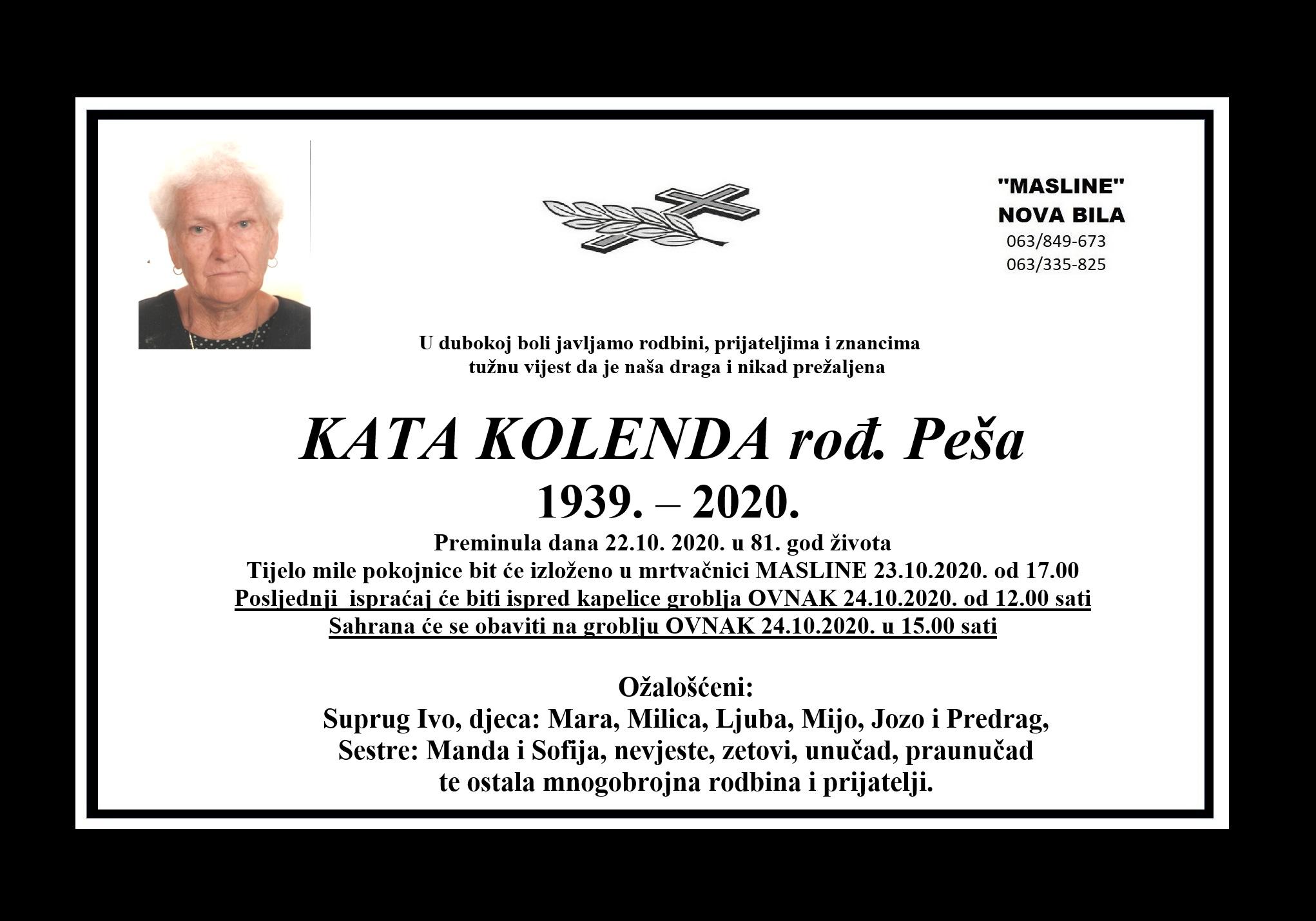 Kata Kolenda rođ. Peša