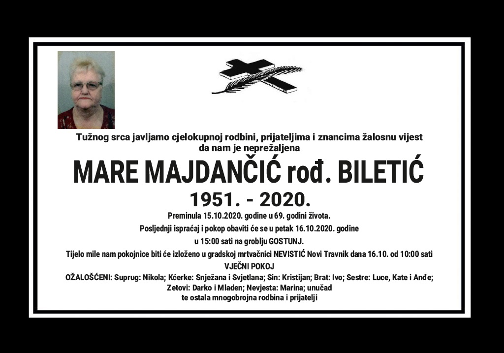 Mare Majdančić rođ. Biletić