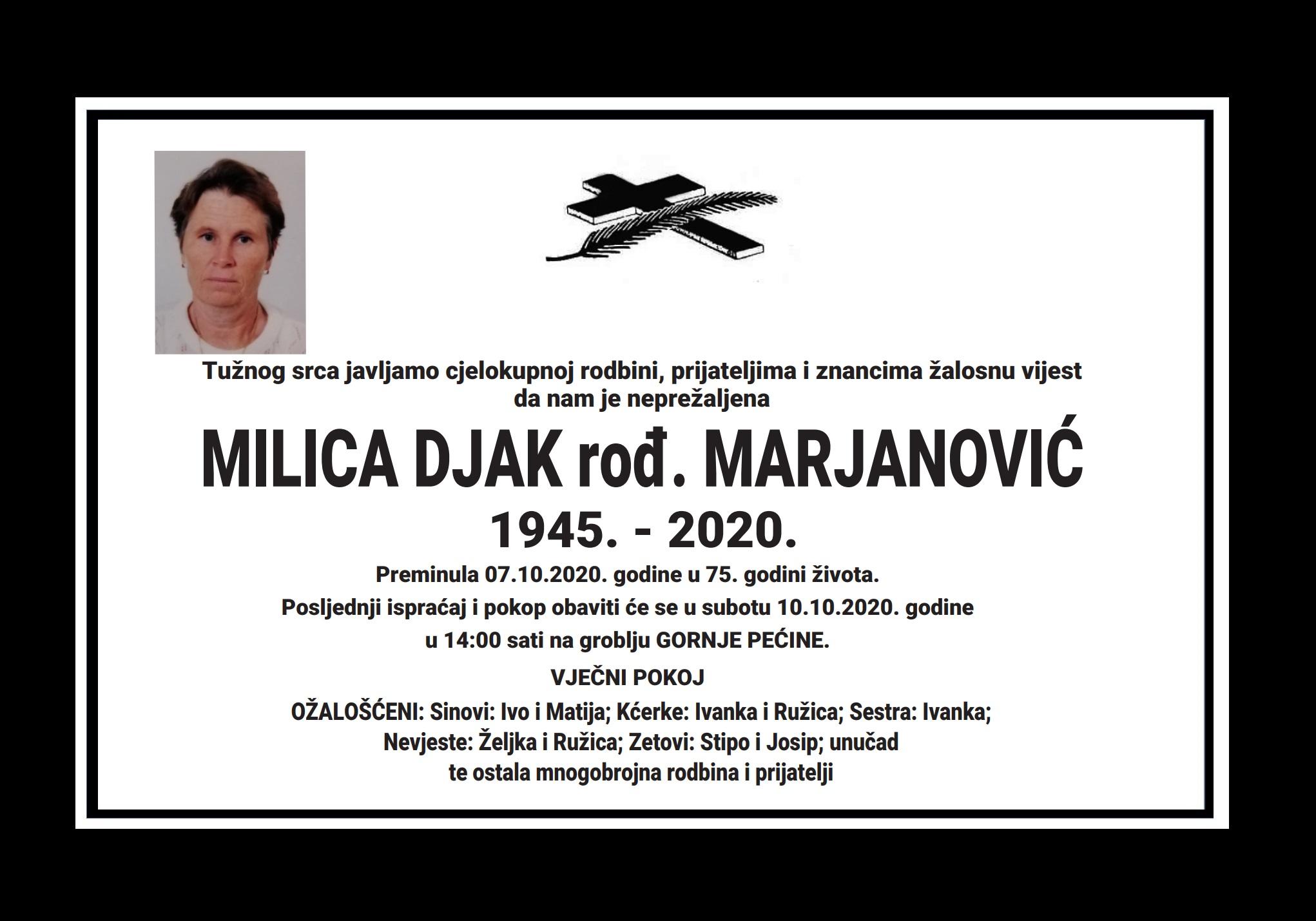 Milica Djak rođ. Marjanović
