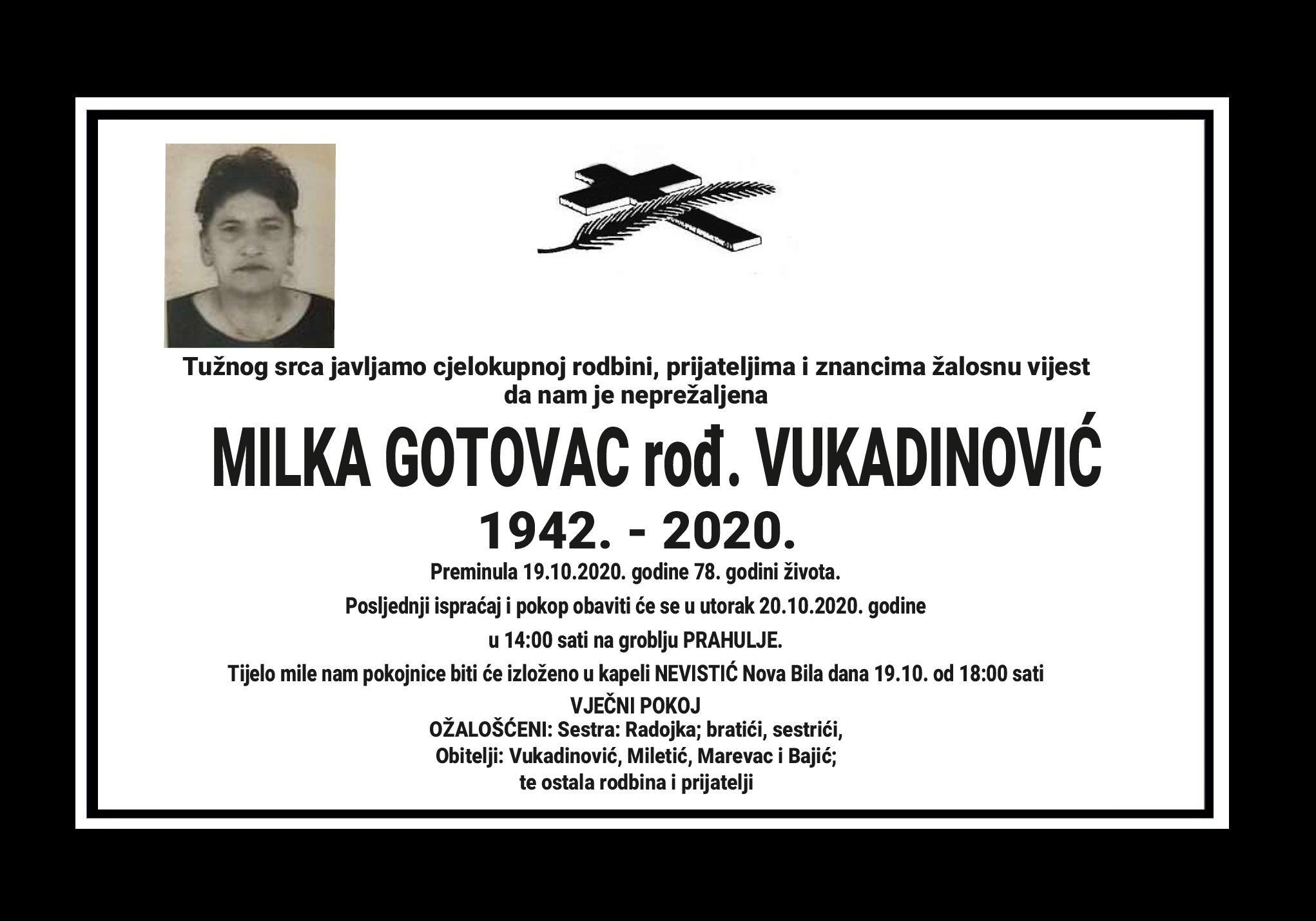 Milka Gotovac rođ. Vukadinović
