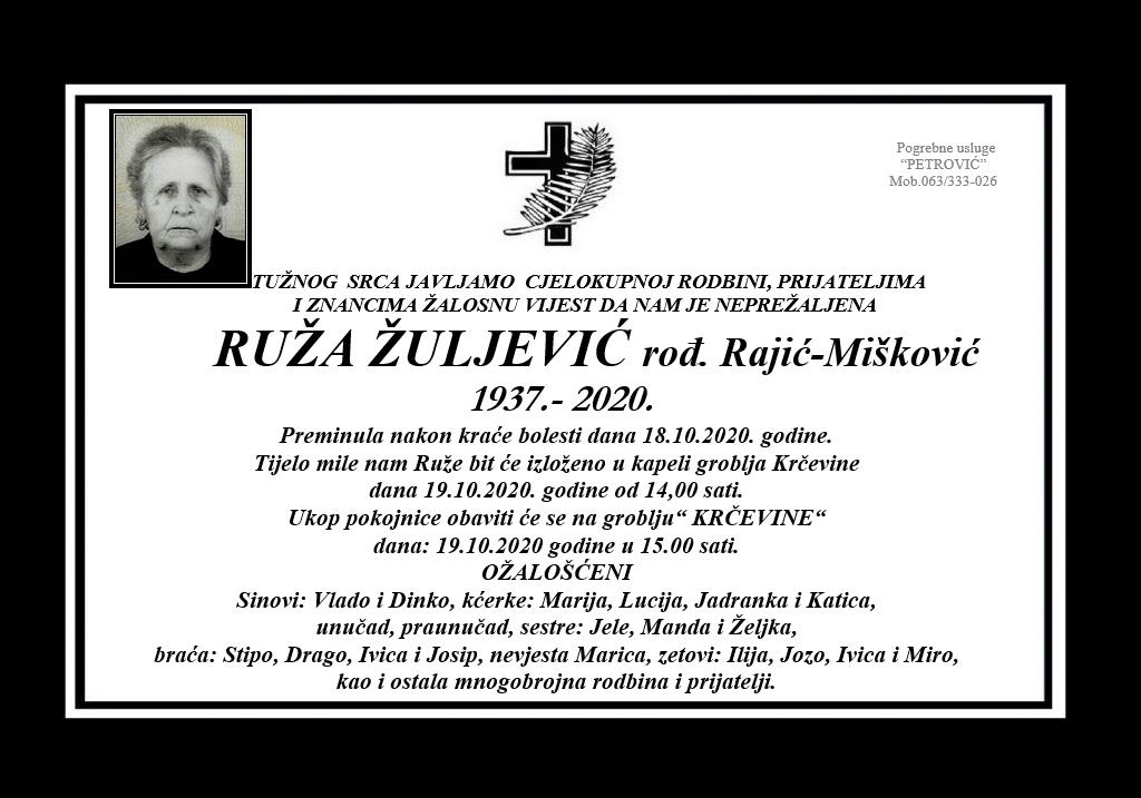 Ruža Žuljević rođ. Rajić-Mišković
