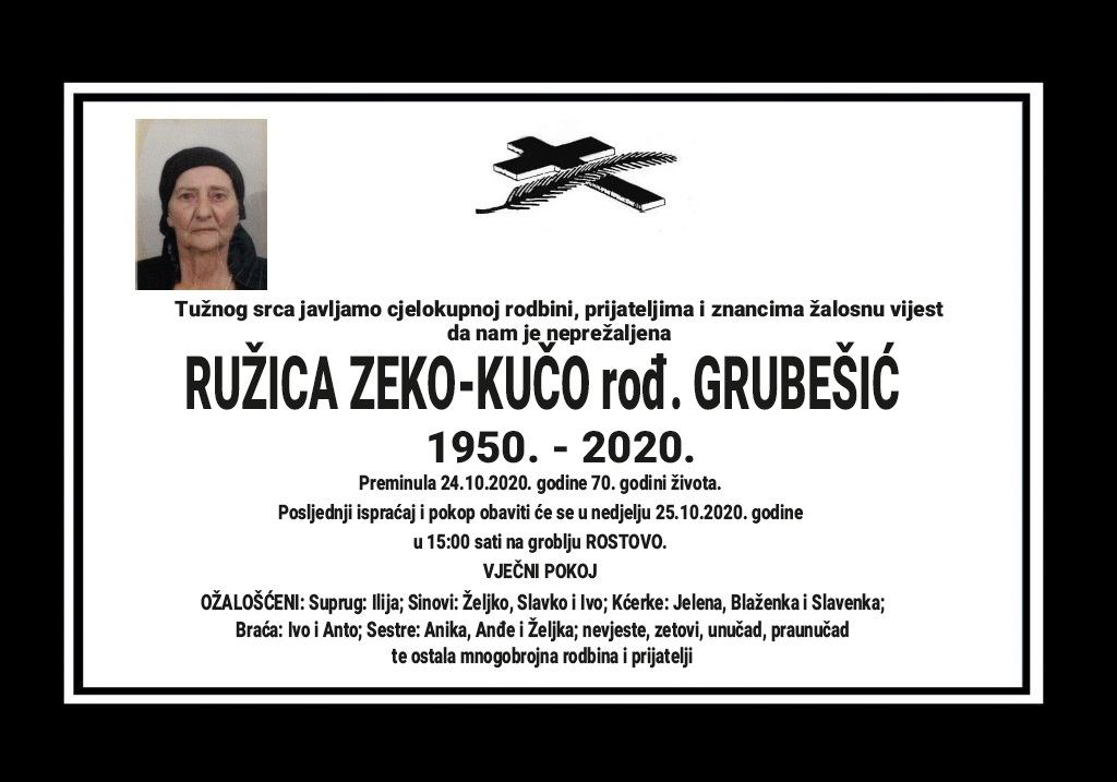 Ružica Zeko-Kučo rođ. Grubešić