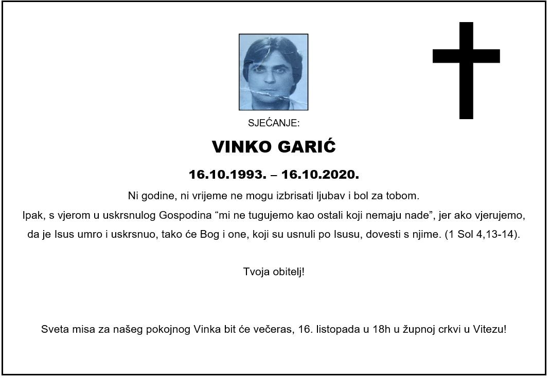 Sjećanje: Vinko Garić