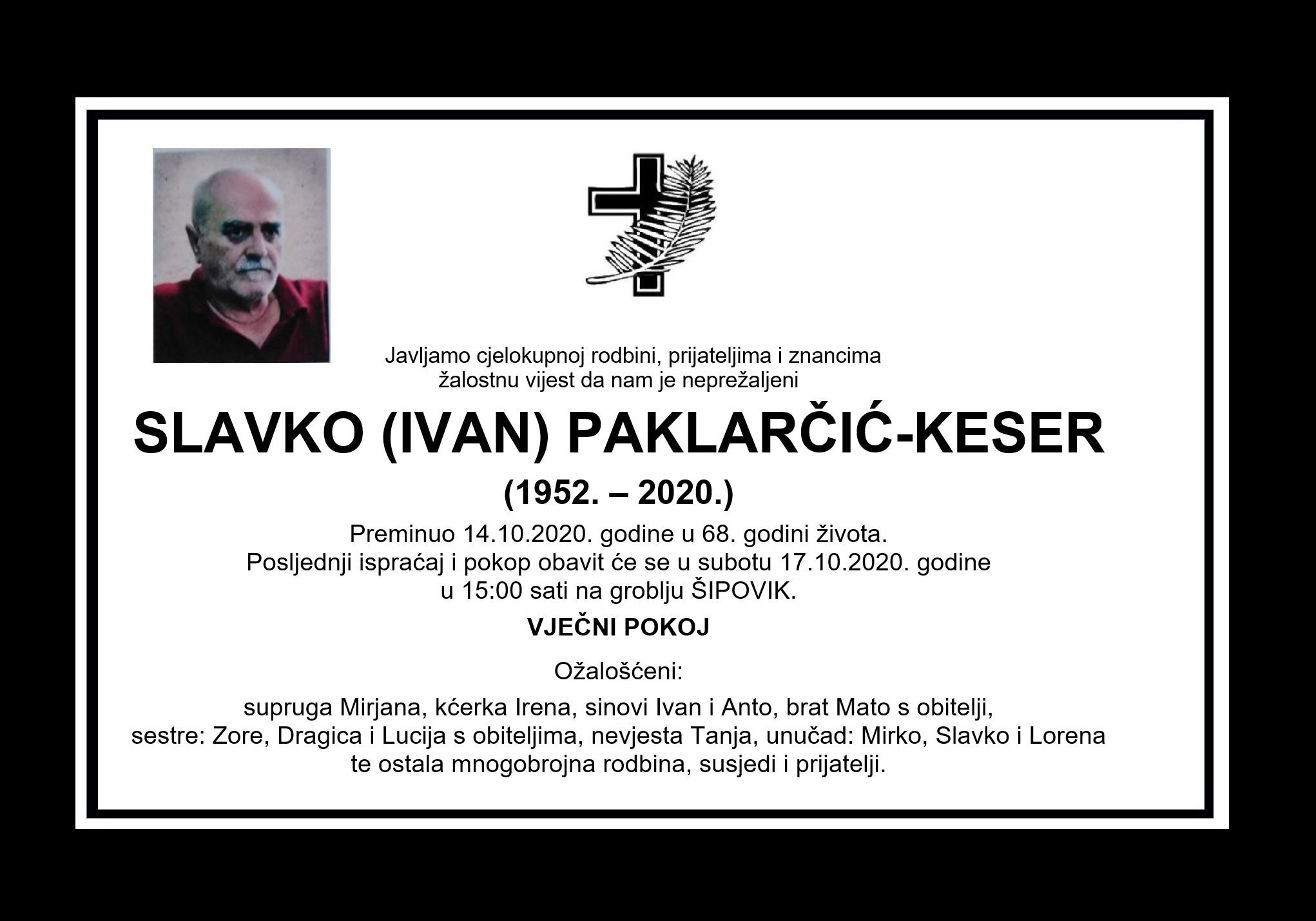 Slavko (Ivan) Paklarčić-Keser